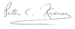 Peter C. Krause Signature
